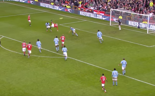 Rooney overhead kick vs Man City Feb 2011