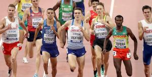 Jake Wightman competing in the 1500m at the IAAF World Championships in Doha last October