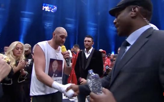 Tyson Fury and Lennox Lewis