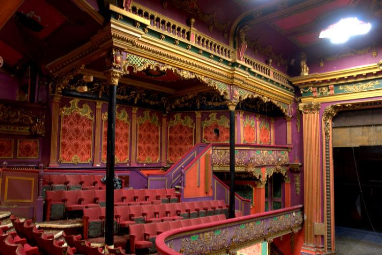 The balcony in Hulme Hippodrome auditorium