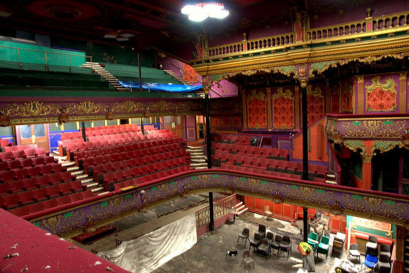 Hulme Hippodrome auditorium with seating