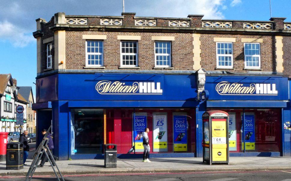 exterior of William Hill shop