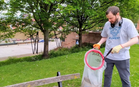 Gary Rumens, 35, set up the Clean & Green Castlefield litter picking group