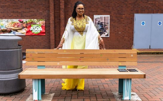 OYOVWE with her bench
